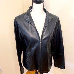 Eddie Bauer Lambskin Leather Jacket NWT.